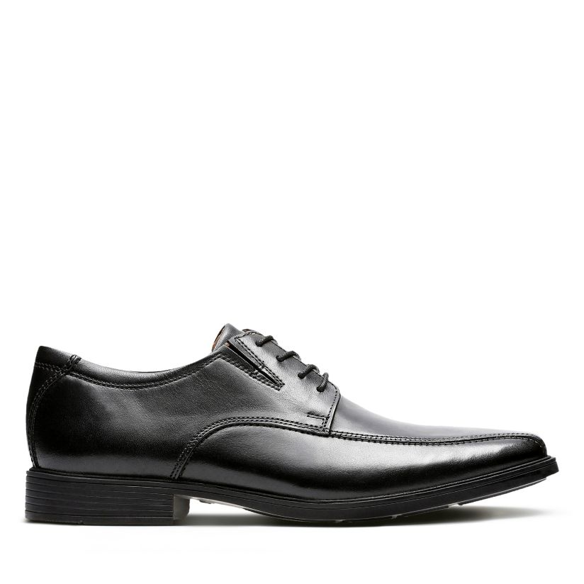 pala Normalización Muy enojado  Tilden Walk Black Leather - Men's Black Edit - Clarks® Shoes Official Site  | Clarks
