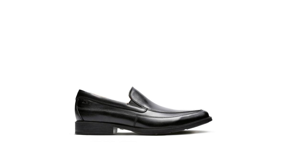 c04ff8fe42 Tilden Free Black Leather - Slip-on Dress Shoes for Men - Clarks® Shoes  Official Site