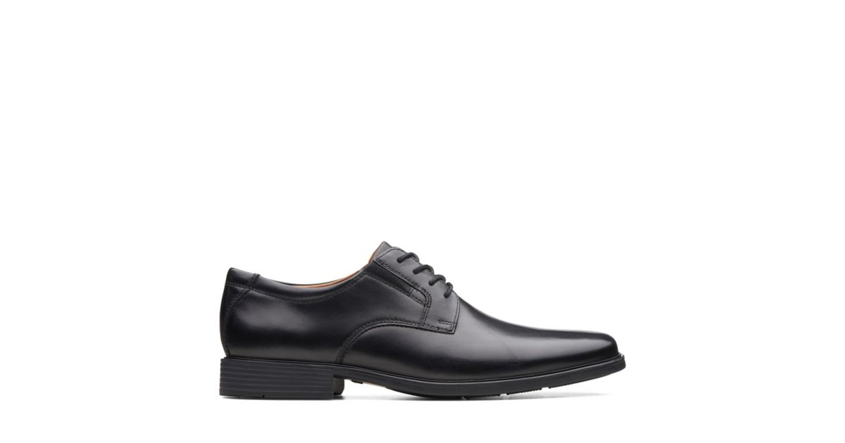 813e31a1e67f6 Tilden Plain Black Leather - Men's Medium Width Shoes - Clarks® Shoes  Official Site | Clarks