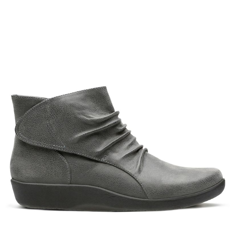 Sillian Sway Grey Womens Boots Clarks® Shoes Official