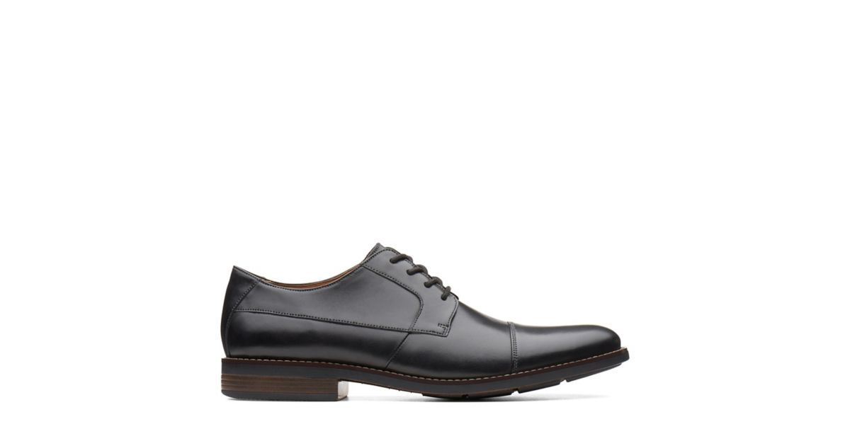 c4fa9711bbfe Becken Cap Black Leather | Clarks