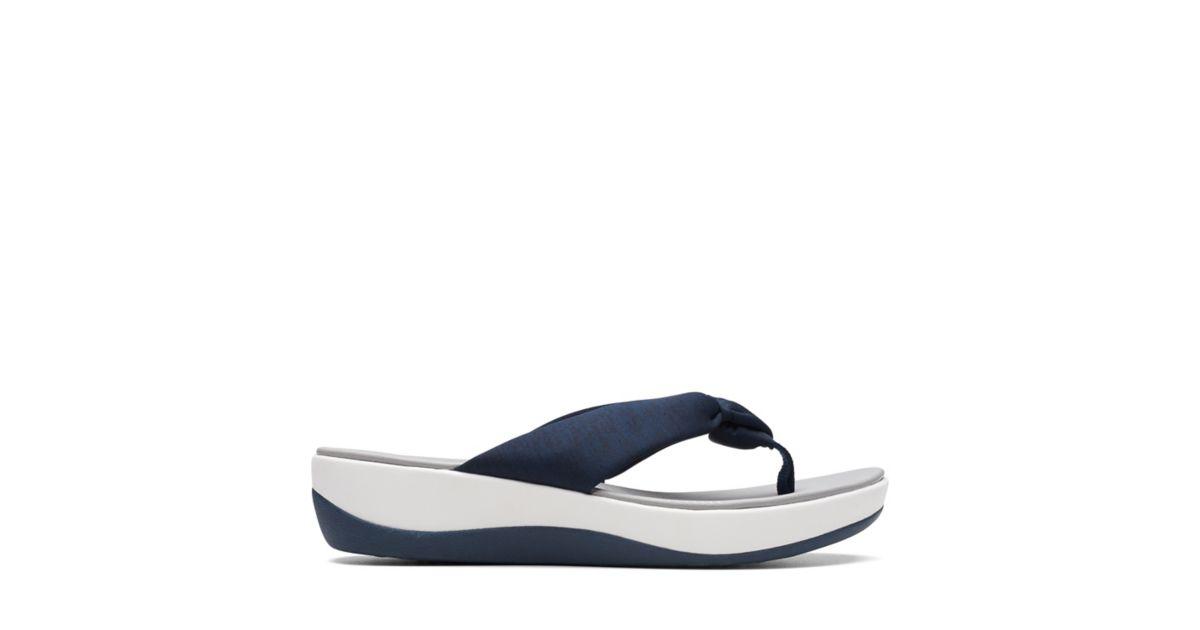 ae62e3c80b94 Arla Glison Blue Heather Fabric - Women s Flip Flop Sandals - Clarks® Shoes  Official Site