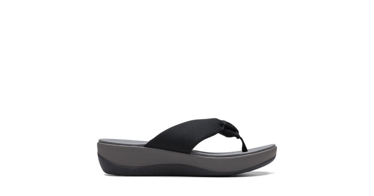d13d0174b78b Arla Glison Black Fabric - Women s Flip Flop Sandals - Clarks® Shoes  Official Site