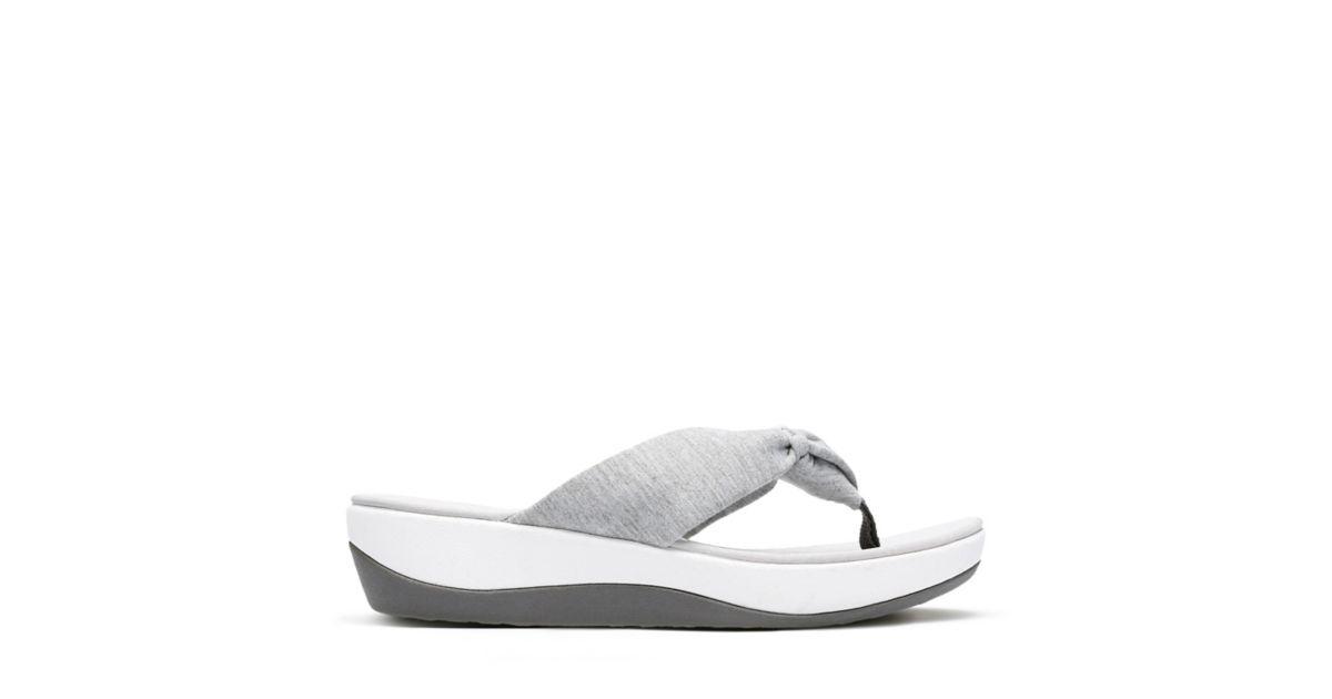 ca3517181cf4 Arla Glison Grey Heather Fabric - Women s Flip Flop Sandals - Clarks® Shoes  Official Site