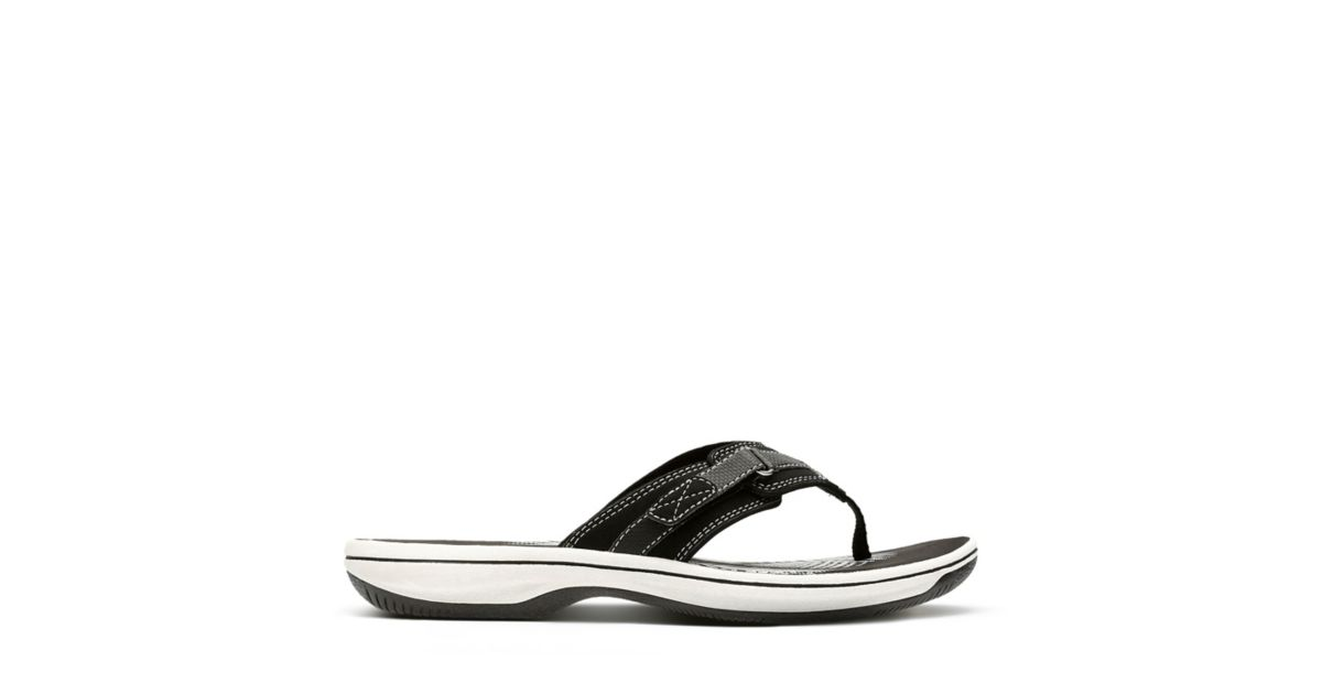 789e964e7 Breeze Sea Black Synthetic - Women s Flip Flop Sandals - Clarks® Shoes  Official Site
