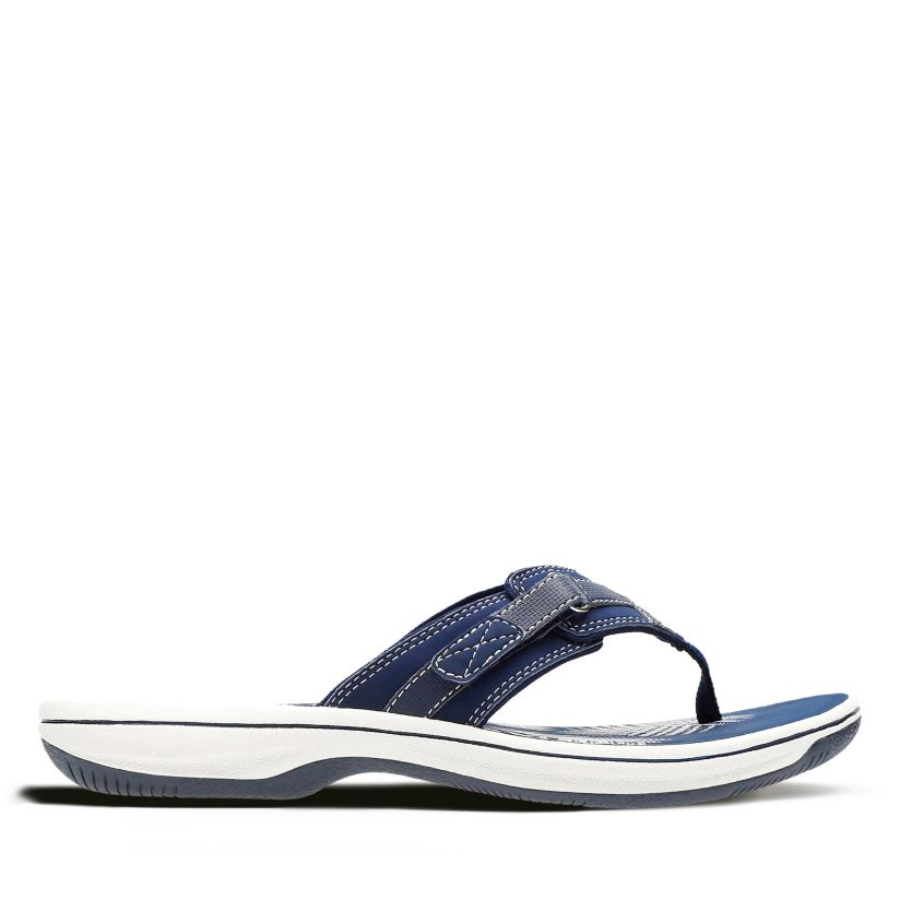 37f4ef771 Breeze Sea Navy Synthetic - Women's Flip Flop Sandals - Clarks ...