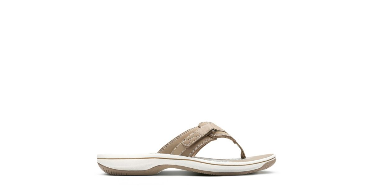 7c43bb4bc847 Breeze Sea Taupe Synthetic - Women s Flip Flop Sandals - Clarks® Shoes  Official Site