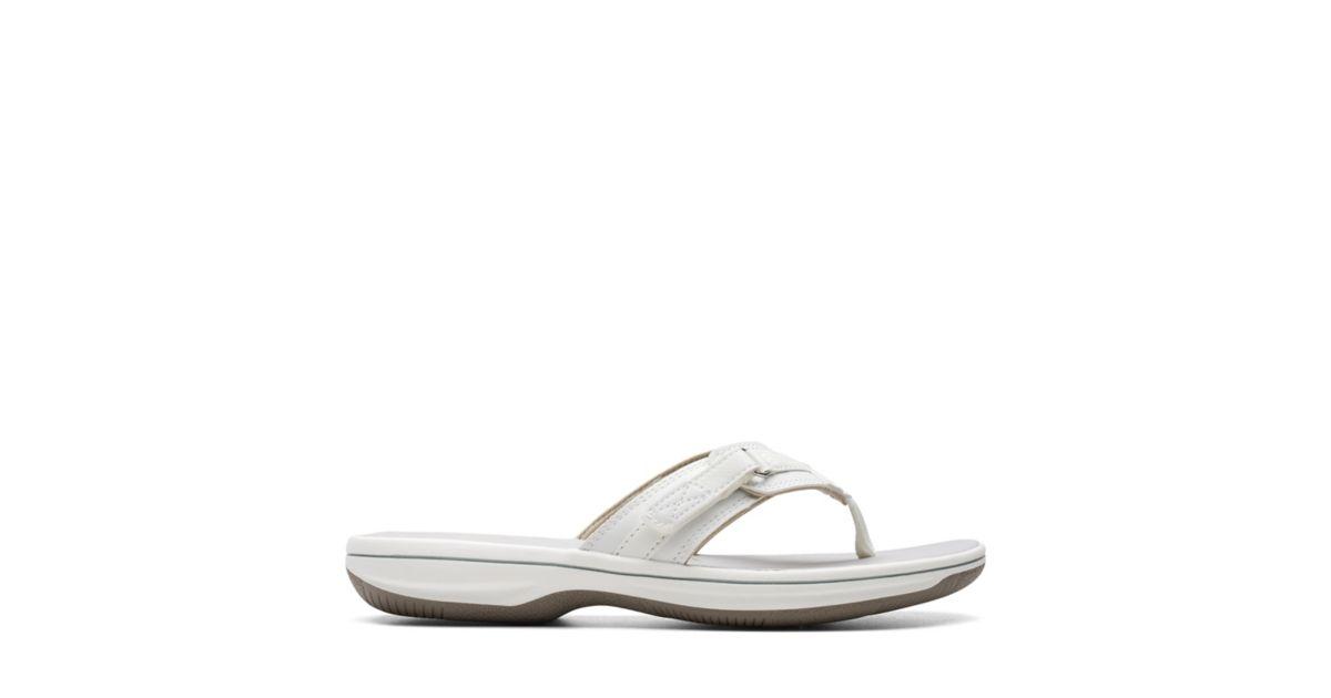 c8f819d76a1e Breeze Sea White Synthetiic - Women s Flip Flop Sandals - Clarks® Shoes  Official Site