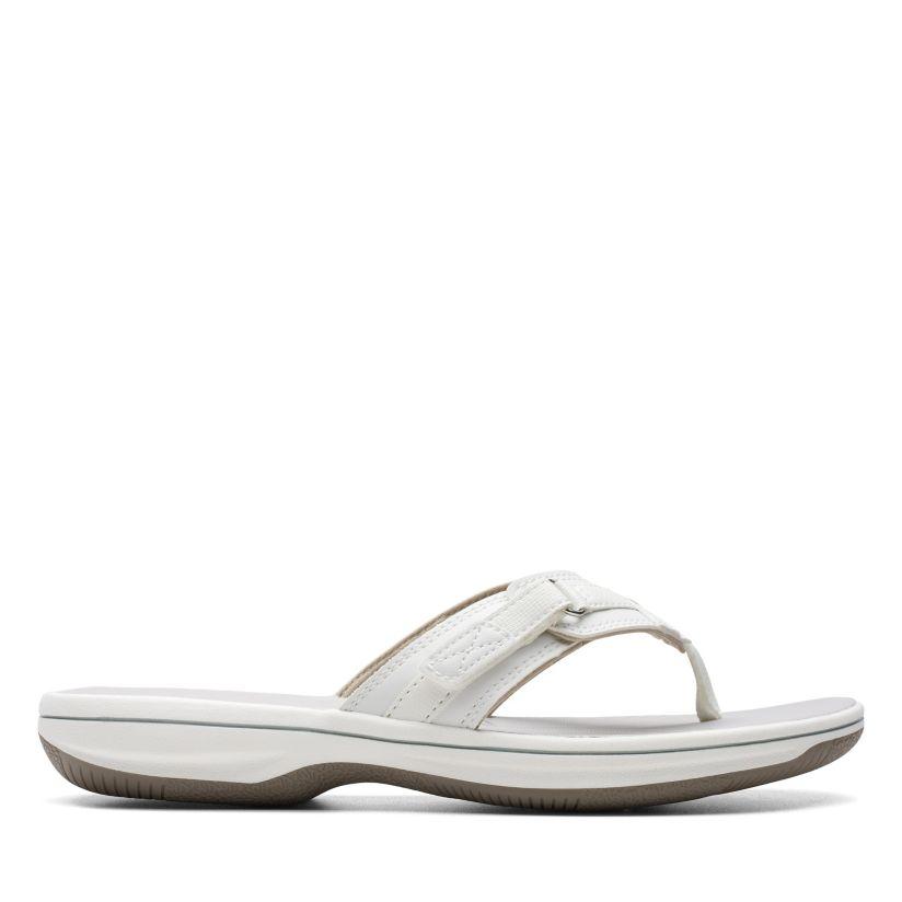 mermelada recoger Respeto a ti mismo  Breeze Sea White Synthetiic - Women's Flip Flop Sandals - Clarks® Shoes  Official Site   Clarks