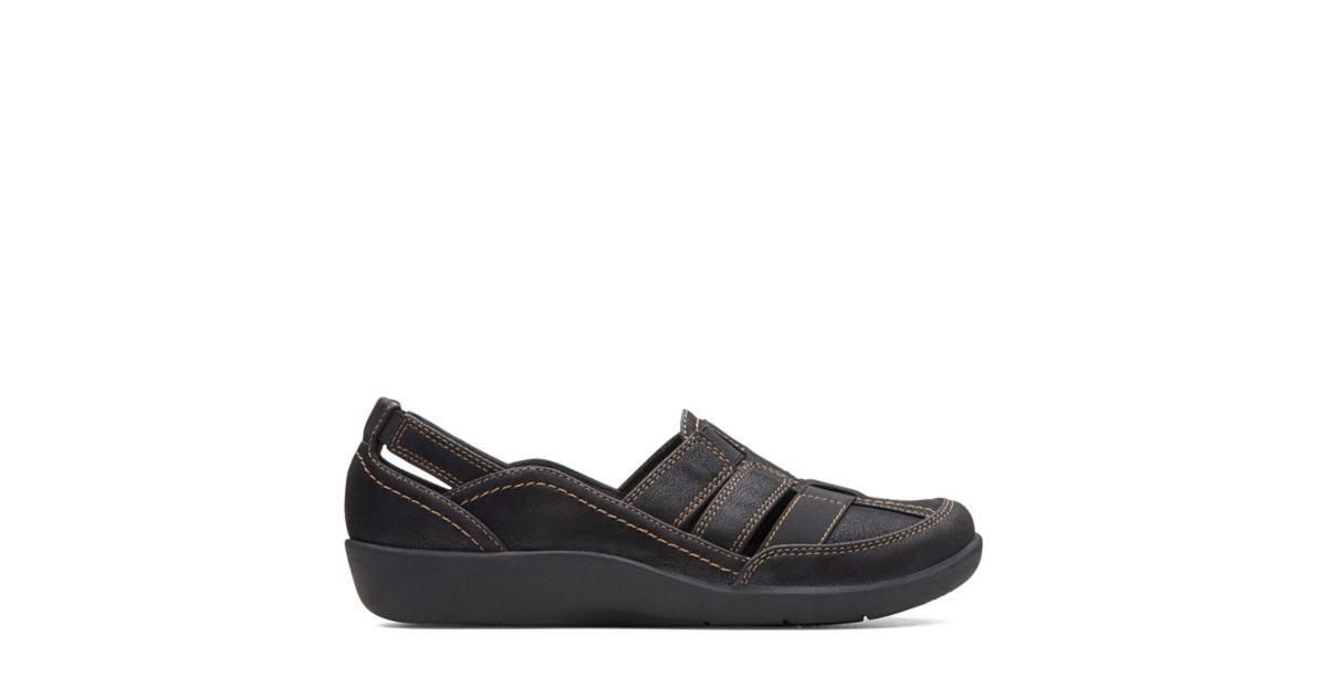 d701d37ac151 Sillian Stork Black Synthetic Nubuck - Women s Collection - Clarks® Shoes  Official Site