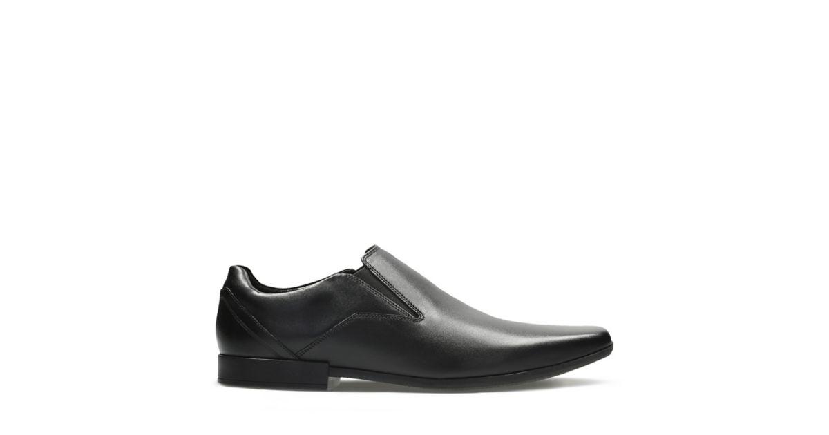 ebea617b0e9 Glement Slip Black Leather