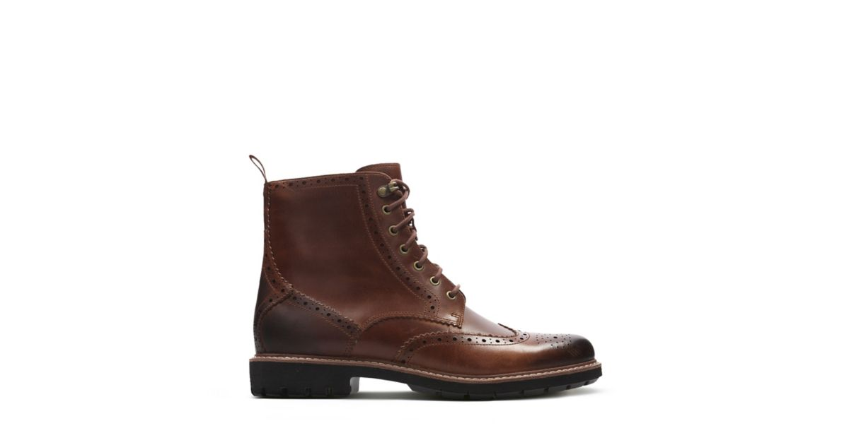 a2935e9b71 Batcombe Lord Dark Tan Leather - Men s Boots - Clarks® Shoes Official Site