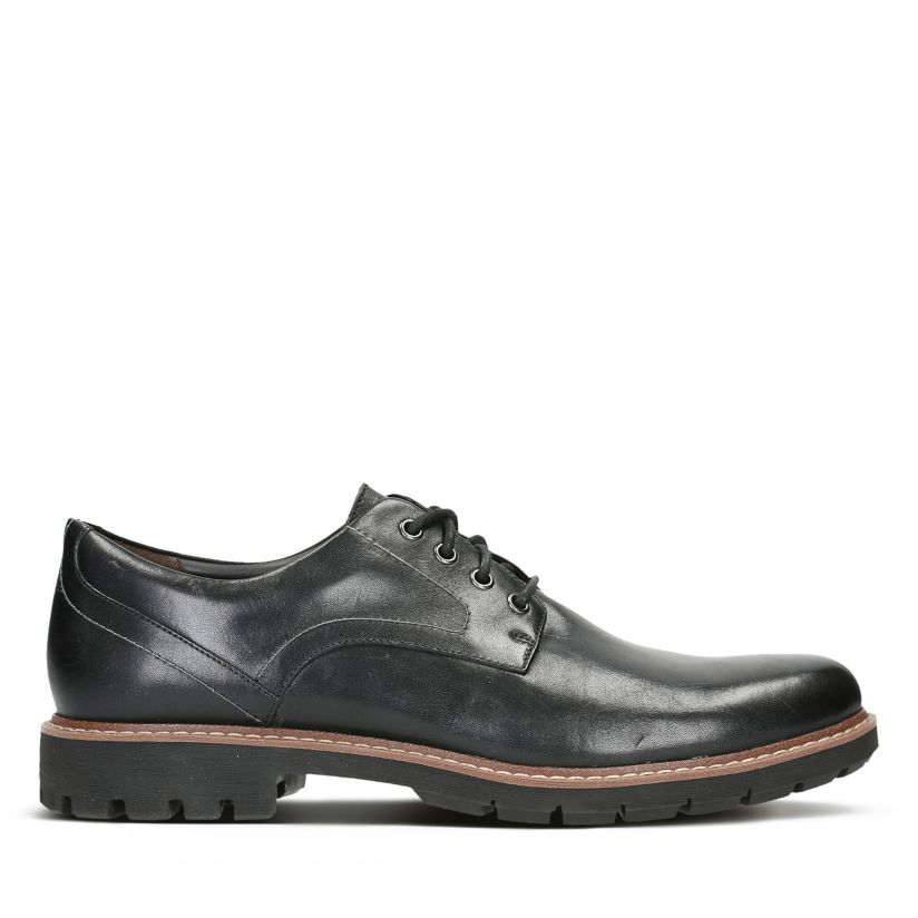 Clarks Herren Batcombe Hall Derbys, Schwarz (Black Leather
