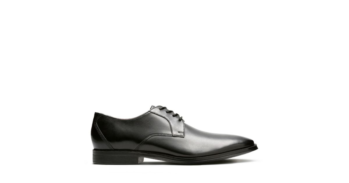 b5a6125bd62c3 Gilman Lace Black Leather - Mens Oxford Shoes - Clarks® Shoes Official Site  | Clarks