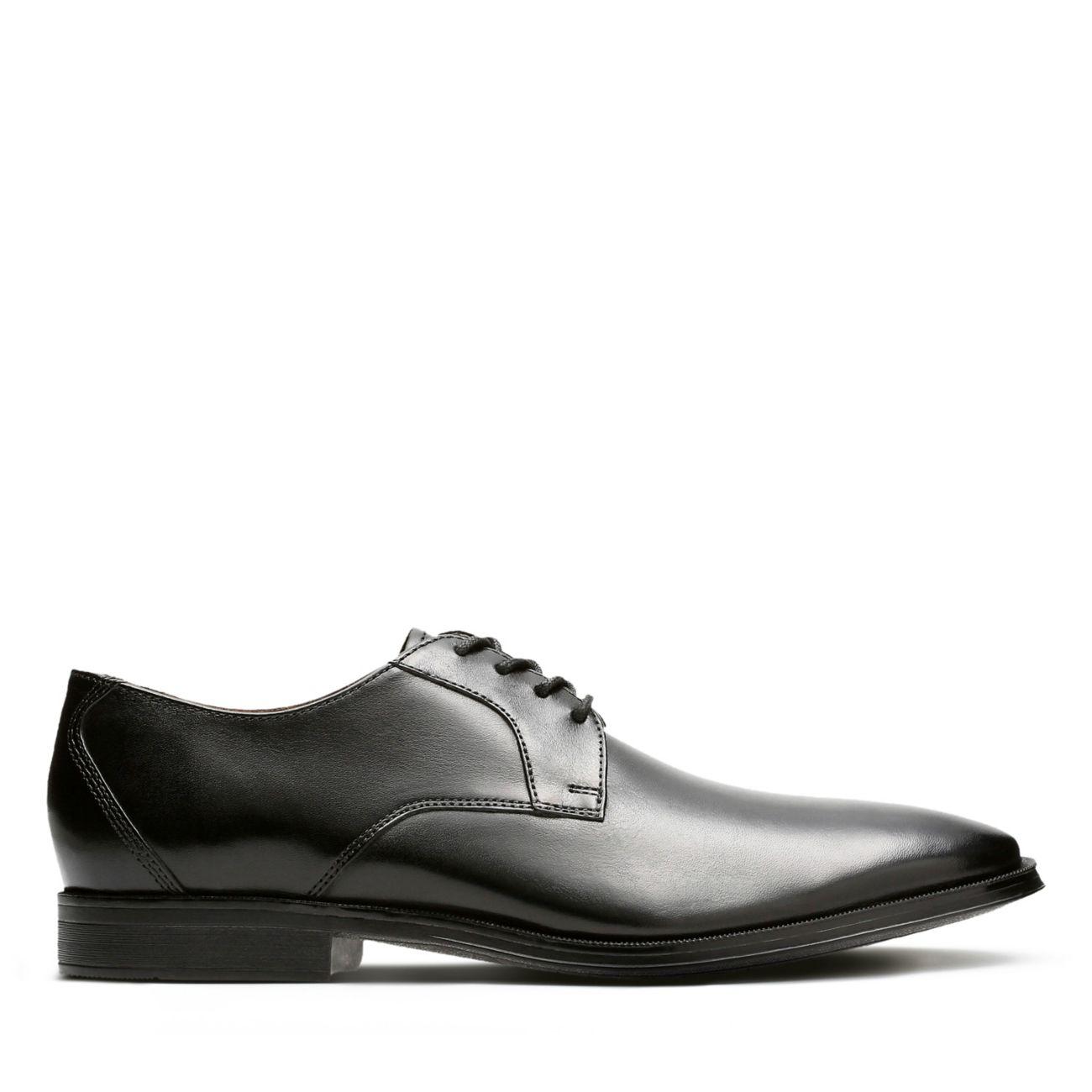 285ea916313894 Gilman Lace Black Leather - Mens Oxford Shoes - Clarks® Shoes Official Site    Clarks