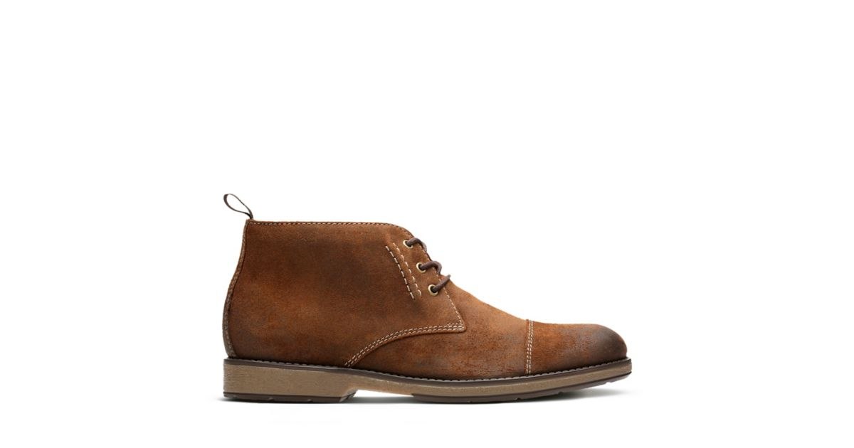 e6b008c1db758 Hinman Mid Dark Tan Suede - Men's Boots - Clarks® Shoes Official Site |  Clarks