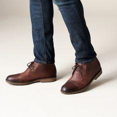 7fb769bc00da4 Hinman Mid Dark Tan Suede - Men's Boots - Clarks® Shoes Official ...