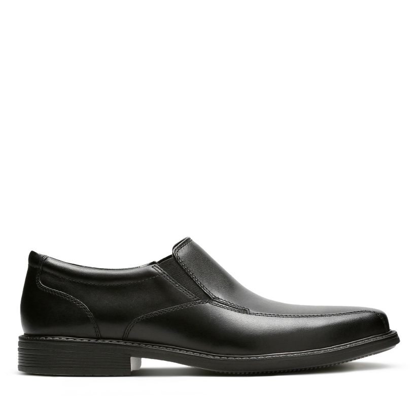 6eb9a9a8eaf9c Bolton Free Black Leather - Men's Loafers and Slip-Ons - Clarks® Shoes  Official Site | Clarks