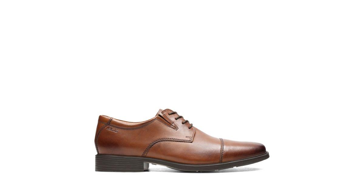 07f12afa302 Tilden Cap Dark Tan Leather - Men s Wide Width Shoes - Clarks® Shoes  Official Site