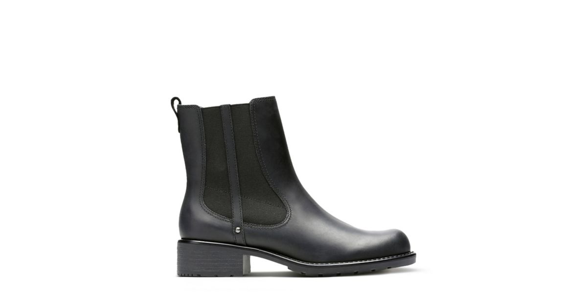 40c7225745ba Orinoco Club Black Leather - Women s Booties   Ankle Boots - Clarks® Shoes  Official Site