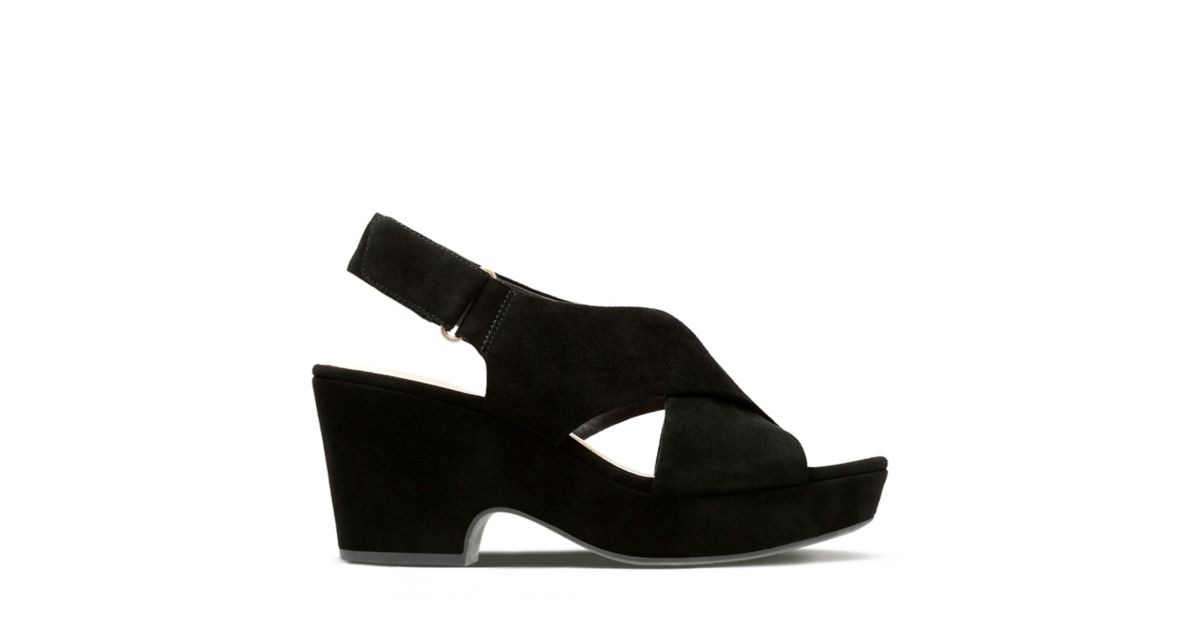 df9aaeb60cc Maritsa Lara Black Suede - Women s Wide Width Shoes - Clarks® Shoes  Official Site