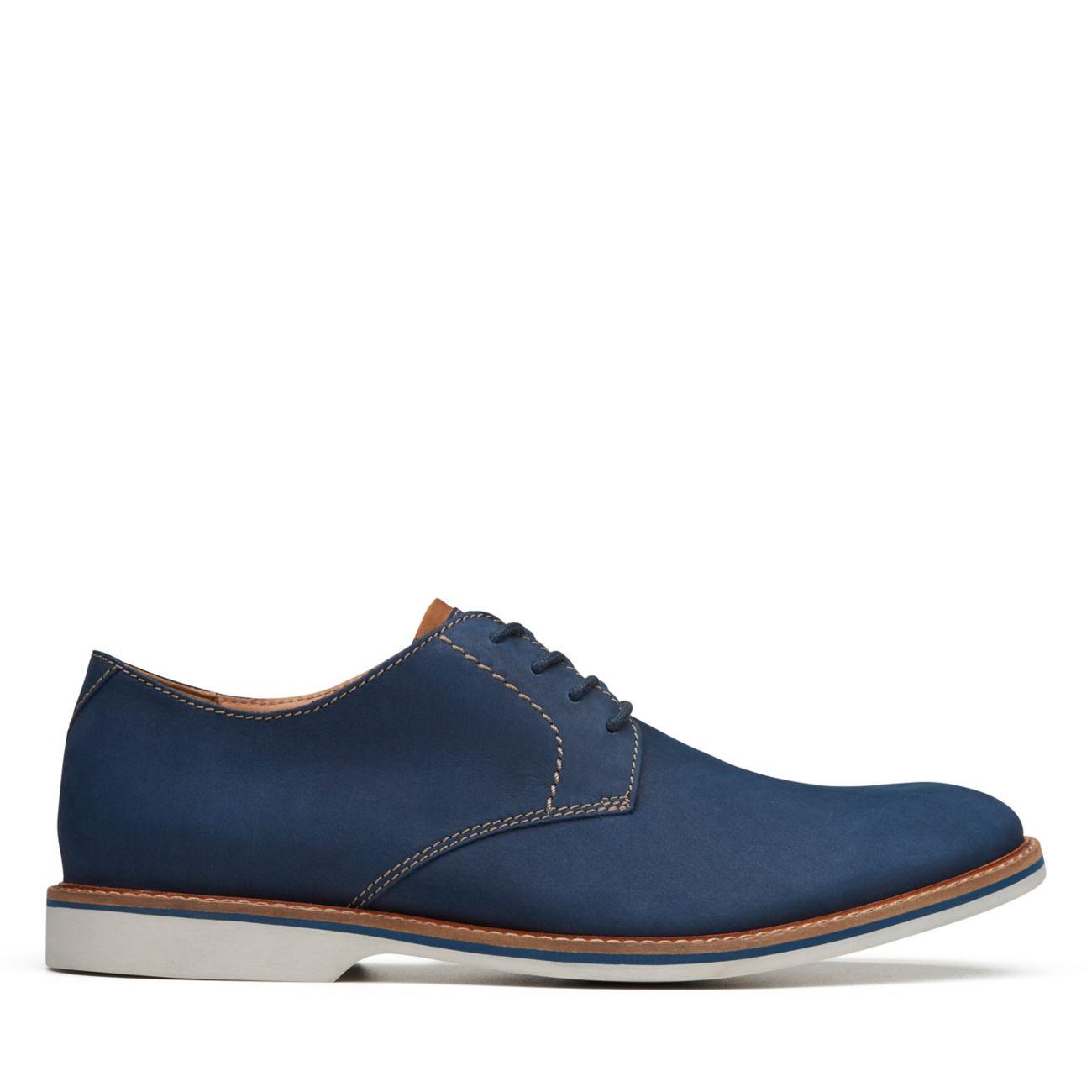 61850604db456a Atticus Lace Navy Nubuck - Men's Oxford Shoes - Clarks® Shoes Official Site  | Clarks