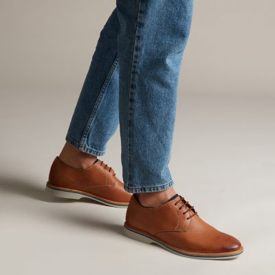 Atticus Lace Tan Leather by clark