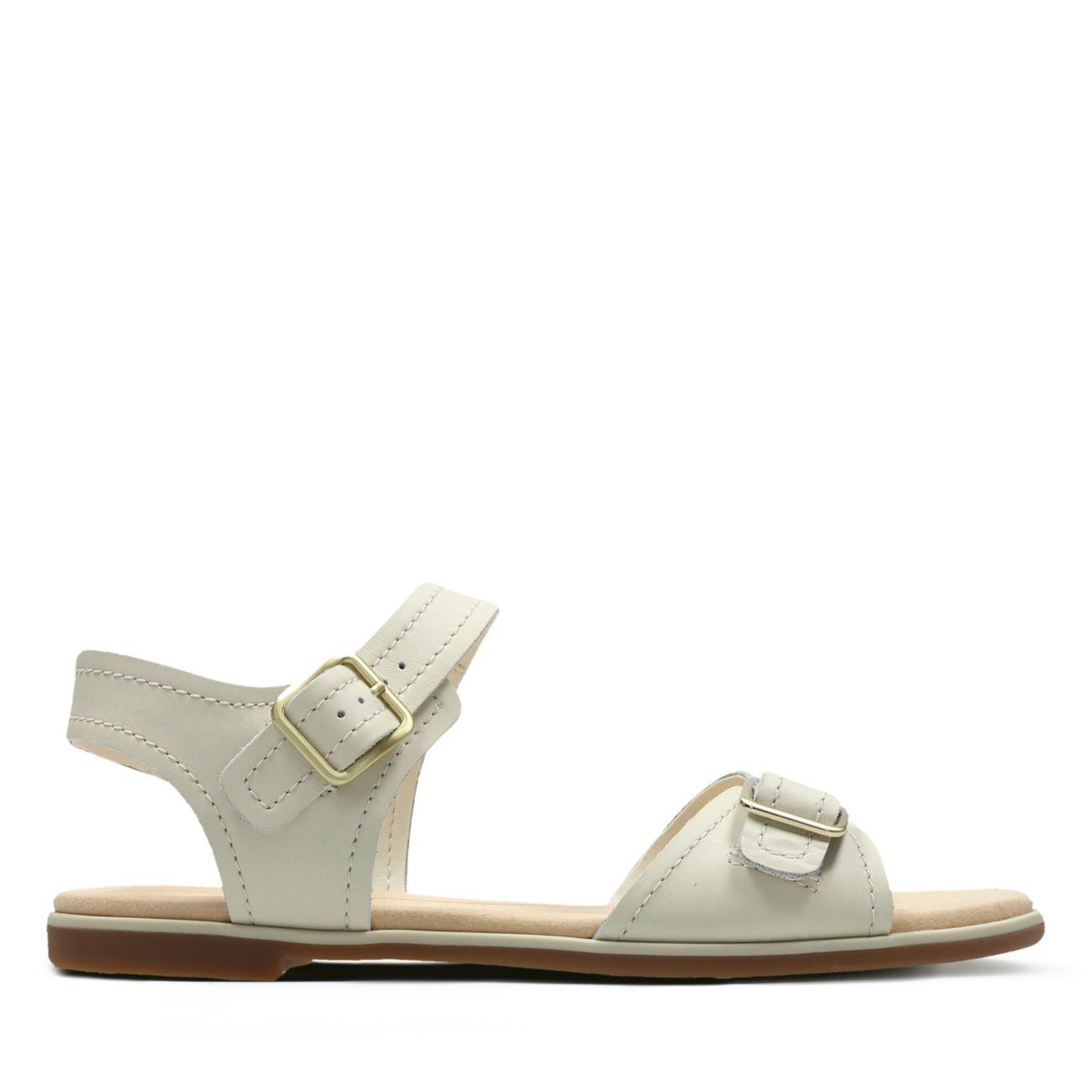 d2db539b9506e Bay Primrose White Leather | Clarks