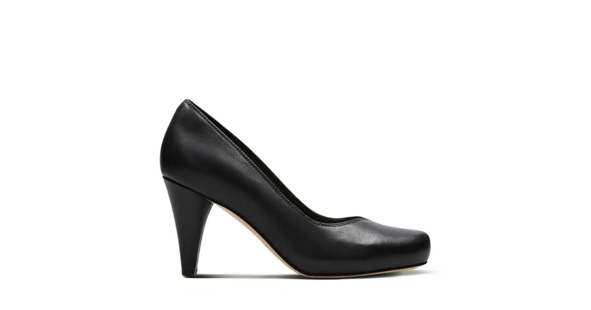 28b7cf4d762 Dalia Rose Black Leather - Women s Heels - Clarks® Shoes Official Site