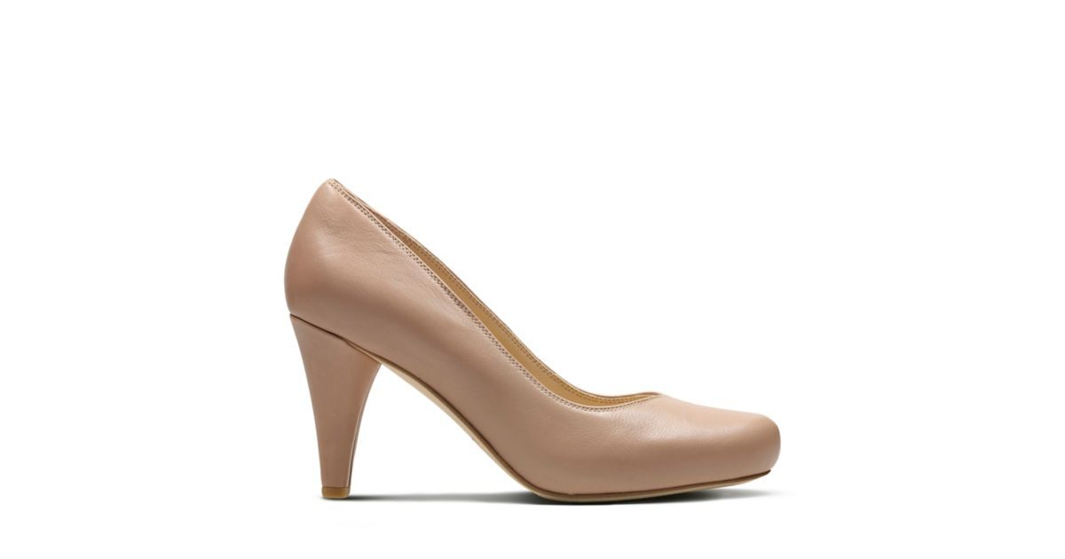 c6a95abe0181 Dalia Rose Nude Leather - Women s Heels - Clarks® Shoes Official Site