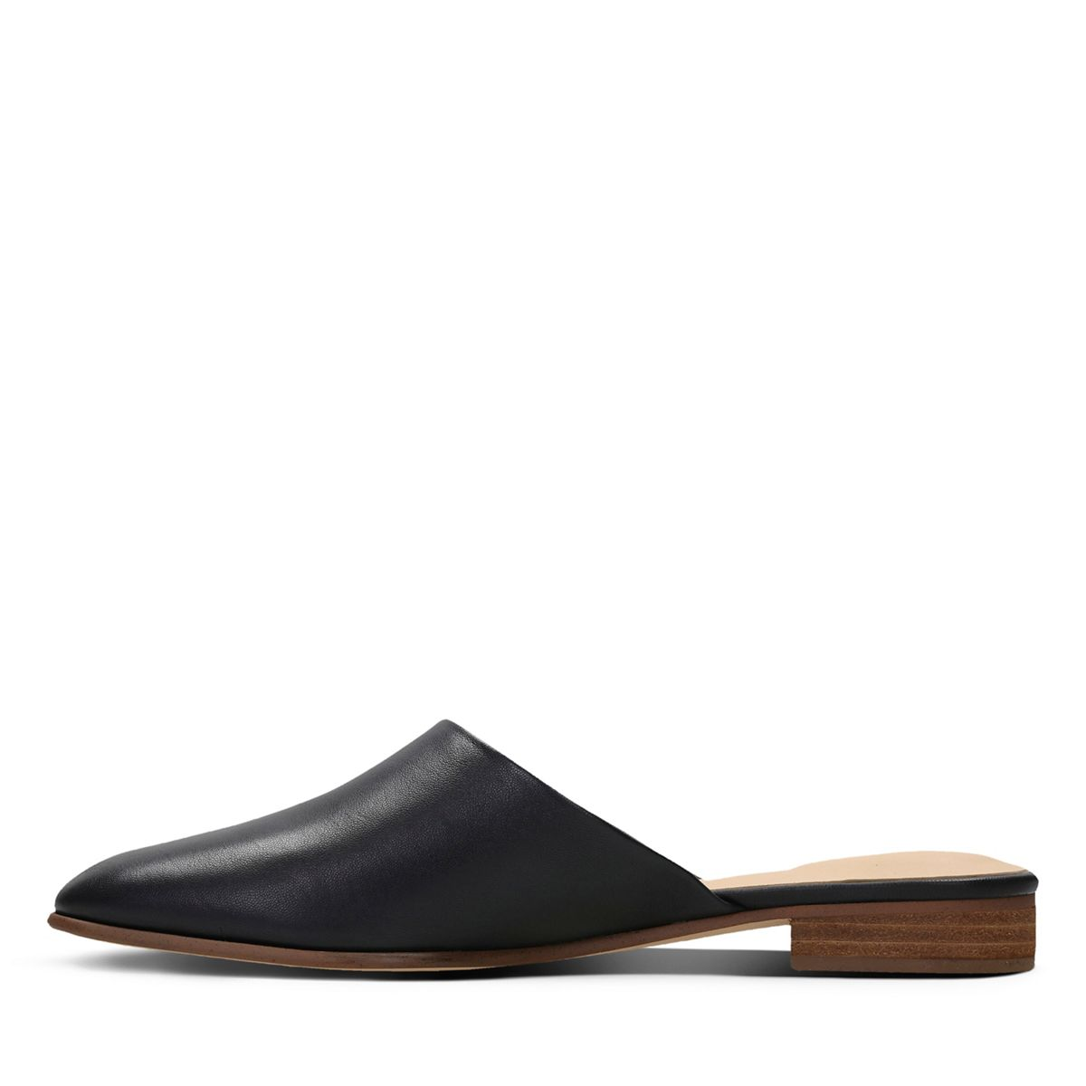 Clarks Pure Blush Leather Shoes in Black
