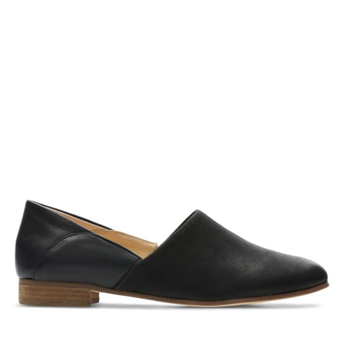 Womens Pure tone shoe in Black Leather