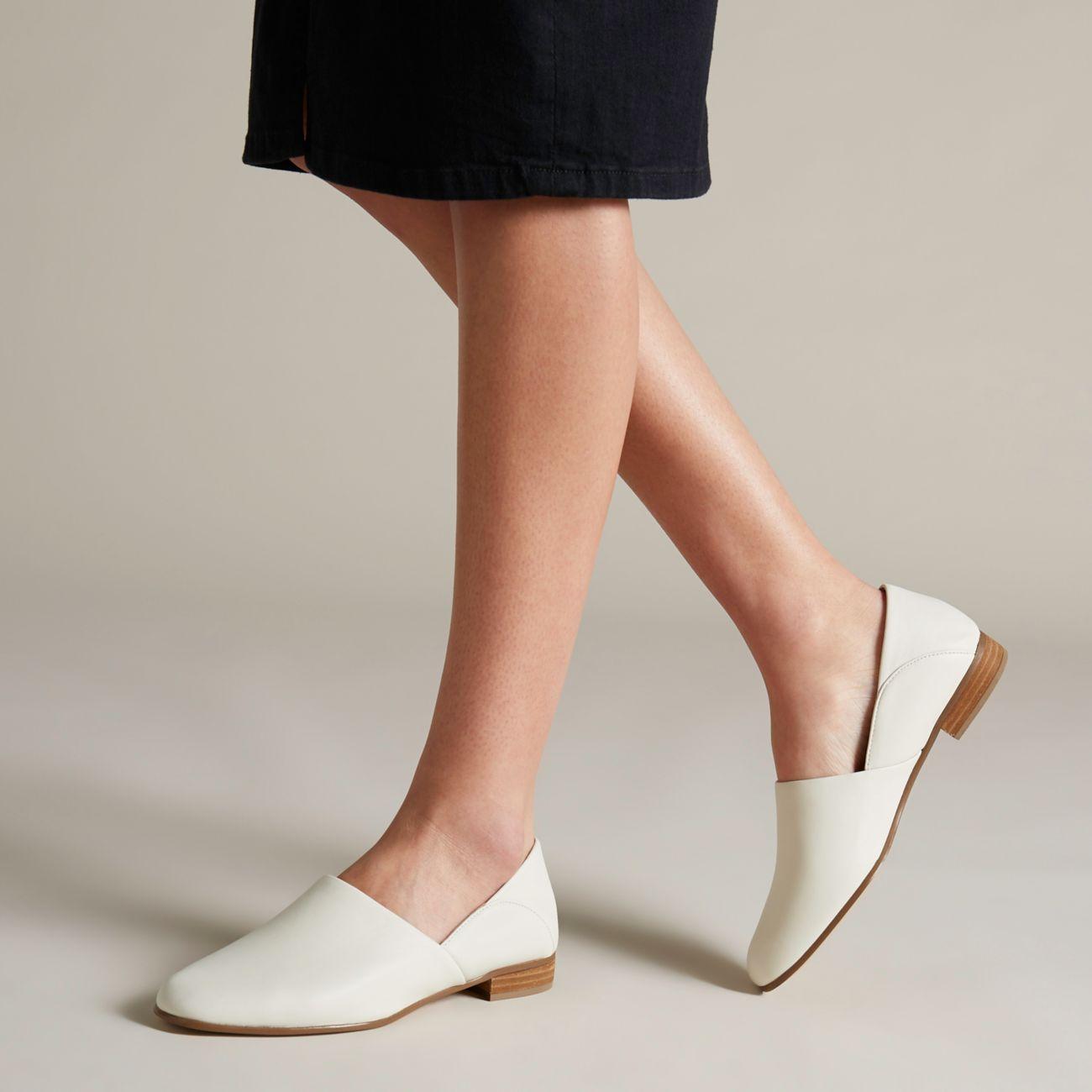 Pure Tone White Leather