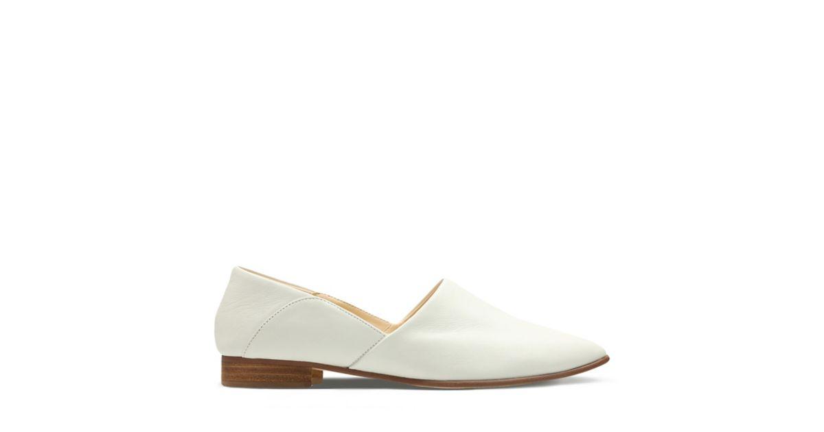 e92d65e639c Pure Tone White Leather - Women s Shoes - Clarks Shoes Official Site ...