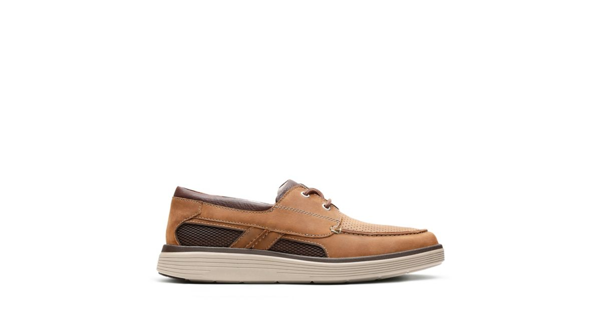 0da2bf84660 Un Abode Step Dark Tan Leather - Men s Unstructured Shoes - Clarks® Shoes  Official Site