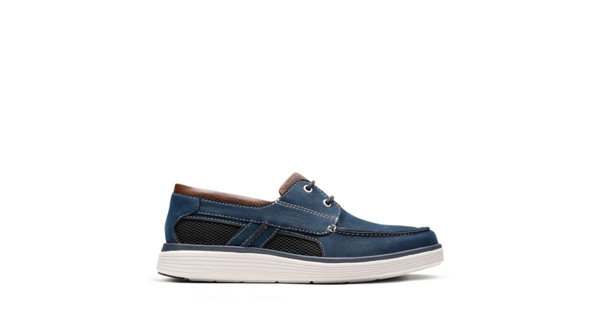 Herren Clarks Sneaker | Un Abode Blau
