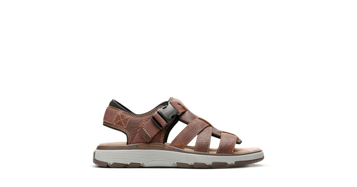a041d8ad7 Un Trek Cove Dark Tan Leather - Men s Unstructured Shoes - Clarks® Shoes  Official Site