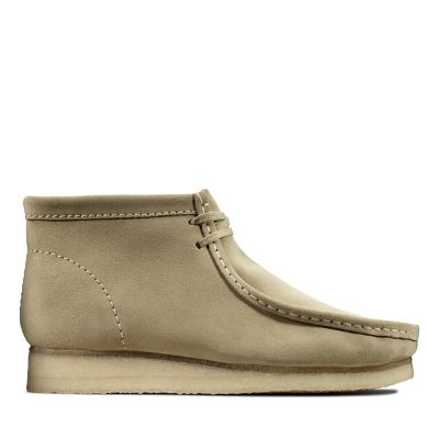 379d3c359ff2b3 Wallabee Boot. Clarks Originals Herrenstiefel. Hellbraunes Veloursleder