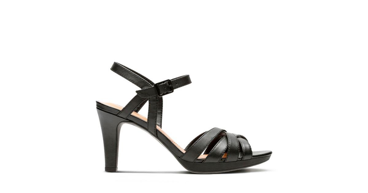 85edbccbb34 Adriel Wavy Black Leather - Womens sandals - Clarks® Shoes Official Site
