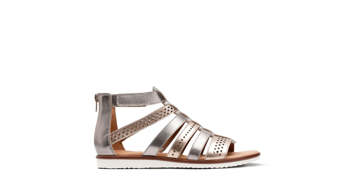122e453fd978 Kele Lotus Metallic Multi Leather - Womens Flat Sandals - Clarks® Shoes  Official Site