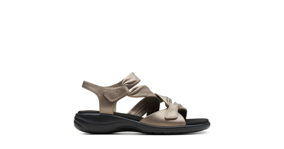 528fe3d01060 Saylie Moon Pewter Metallic Leather - Women s Sandals - Clarks® Shoes  Official Site