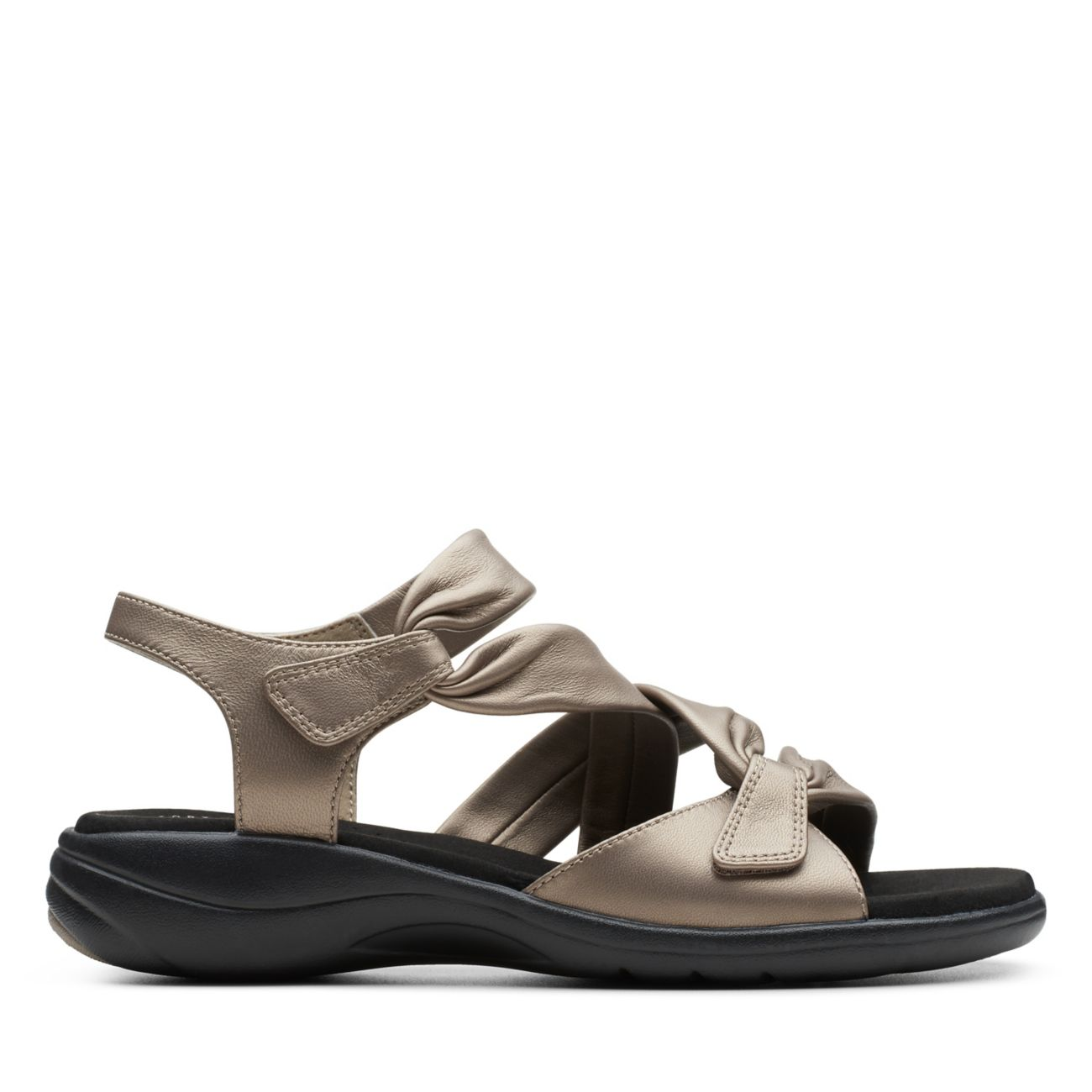 Saylie Moon Pewter Metallic Leather - Women's Sandals - Clarks® Shoes Official Site | Clarks