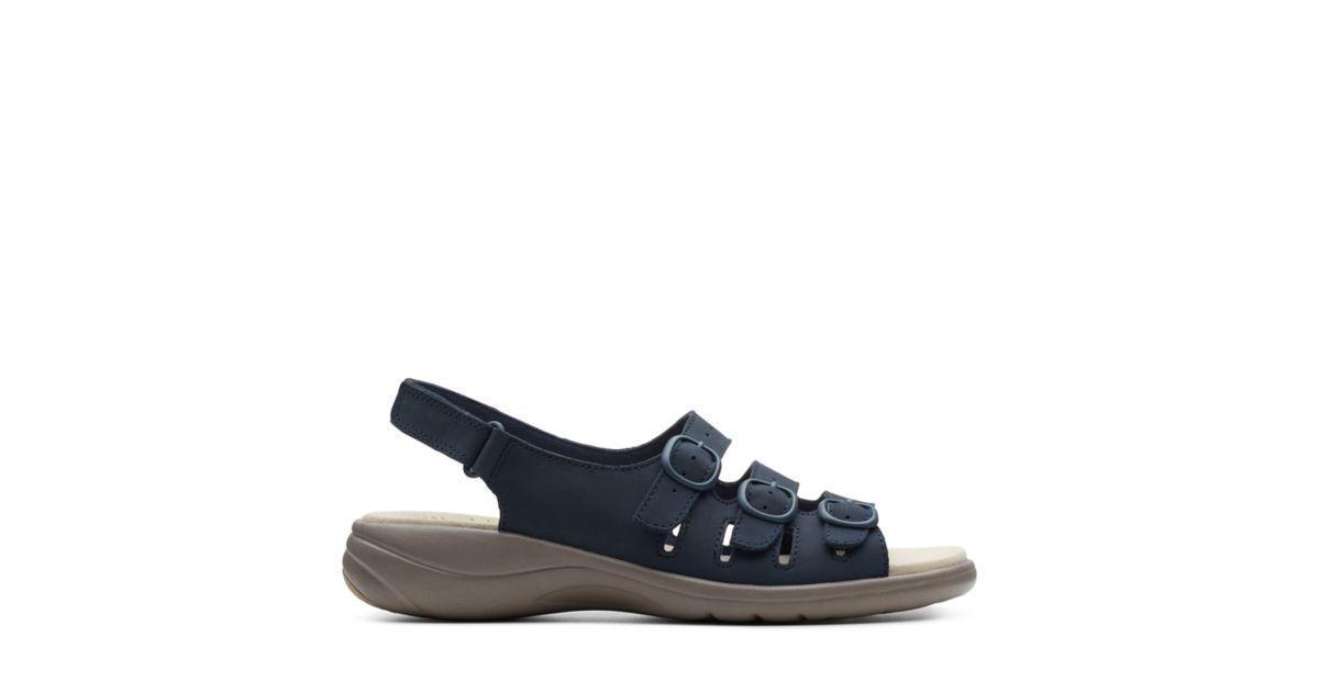 512a4260b6d Saylie Quartz Navy Nubuck - Women s Wide Width Shoes - Clarks® Shoes  Official Site