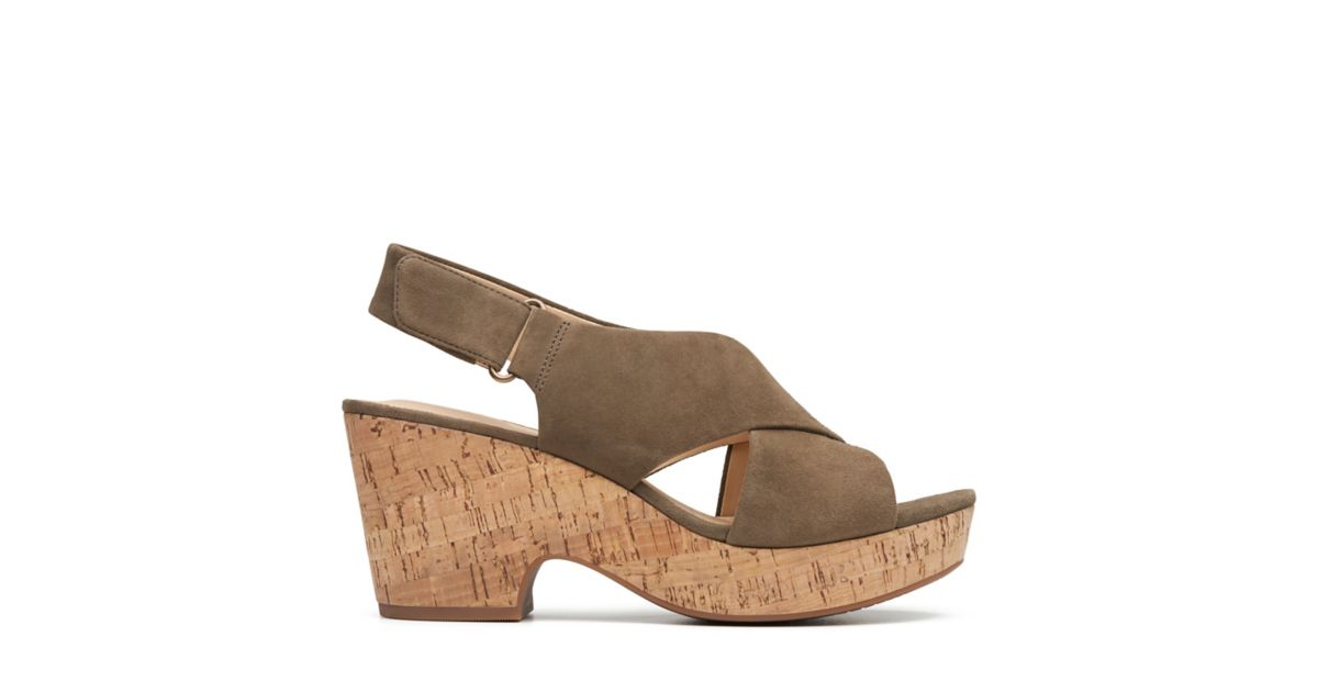 31765a845ed Maritsa Lara Olive Suede - Womens Heel Sandals - Clarks® Shoes Official  Site