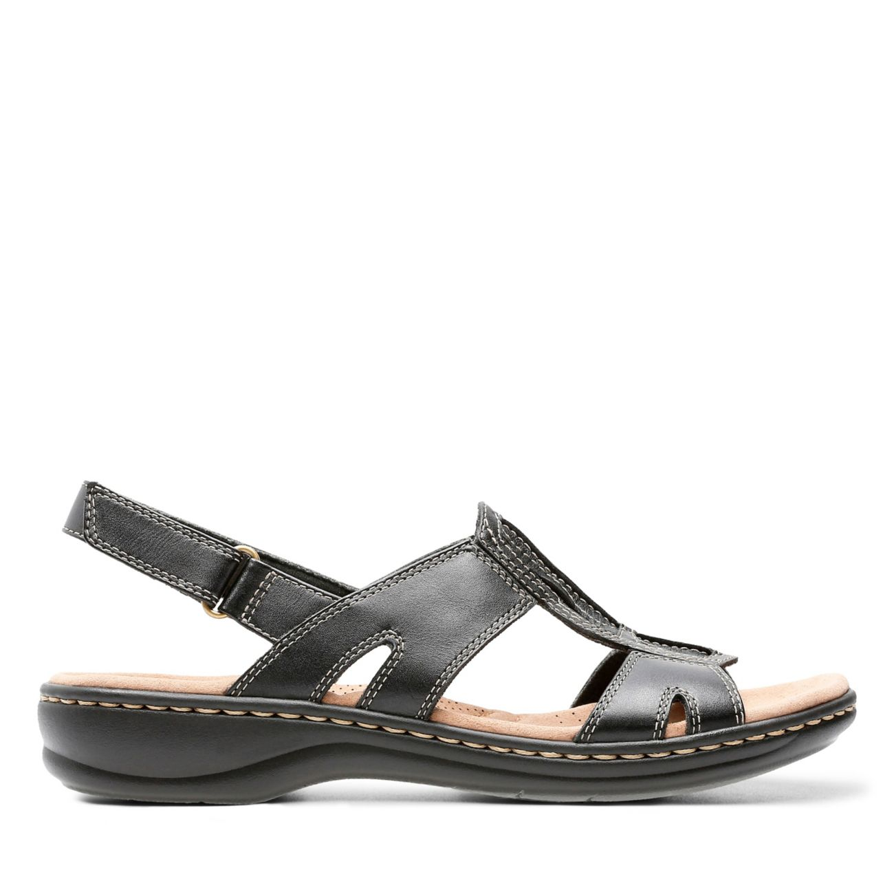 Leisa Skip Black Leather - Clarks® Shoes Official Site | Clarks