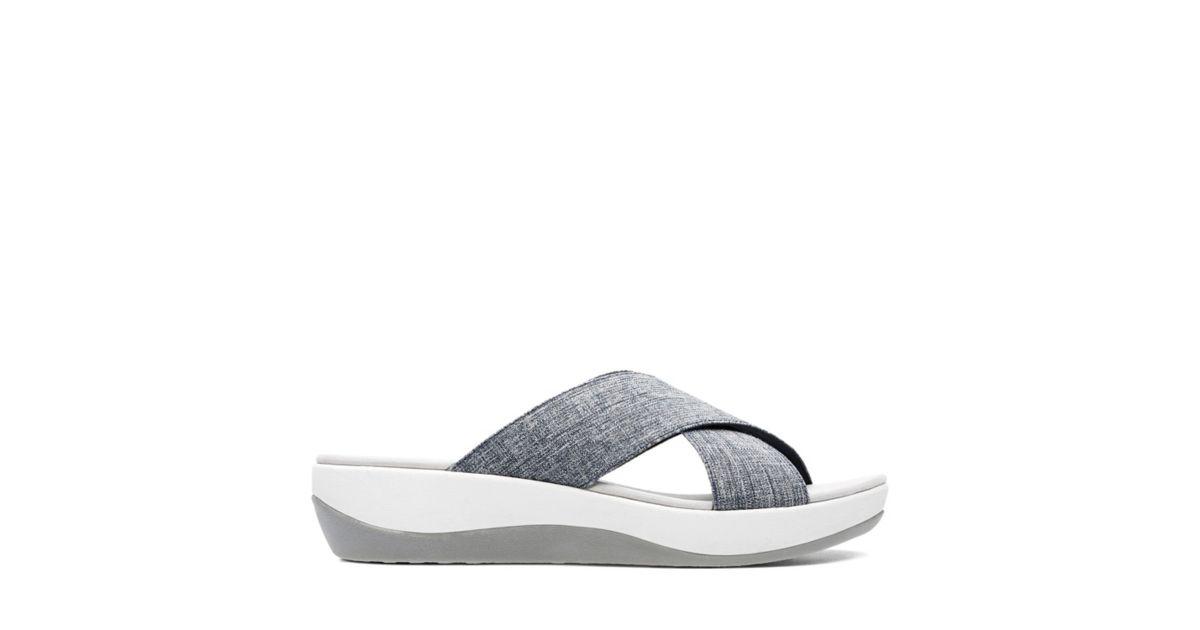 e0e901f69 Arla Elin Navy Textile - Womens Sandals - Clarks® Shoes Official Site