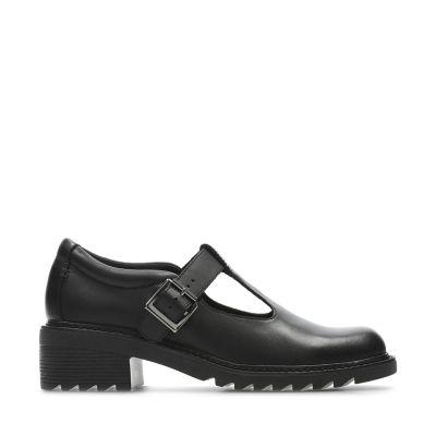 61422b5b85c Frankie Street Youth. Kids School Shoes. Black Leather