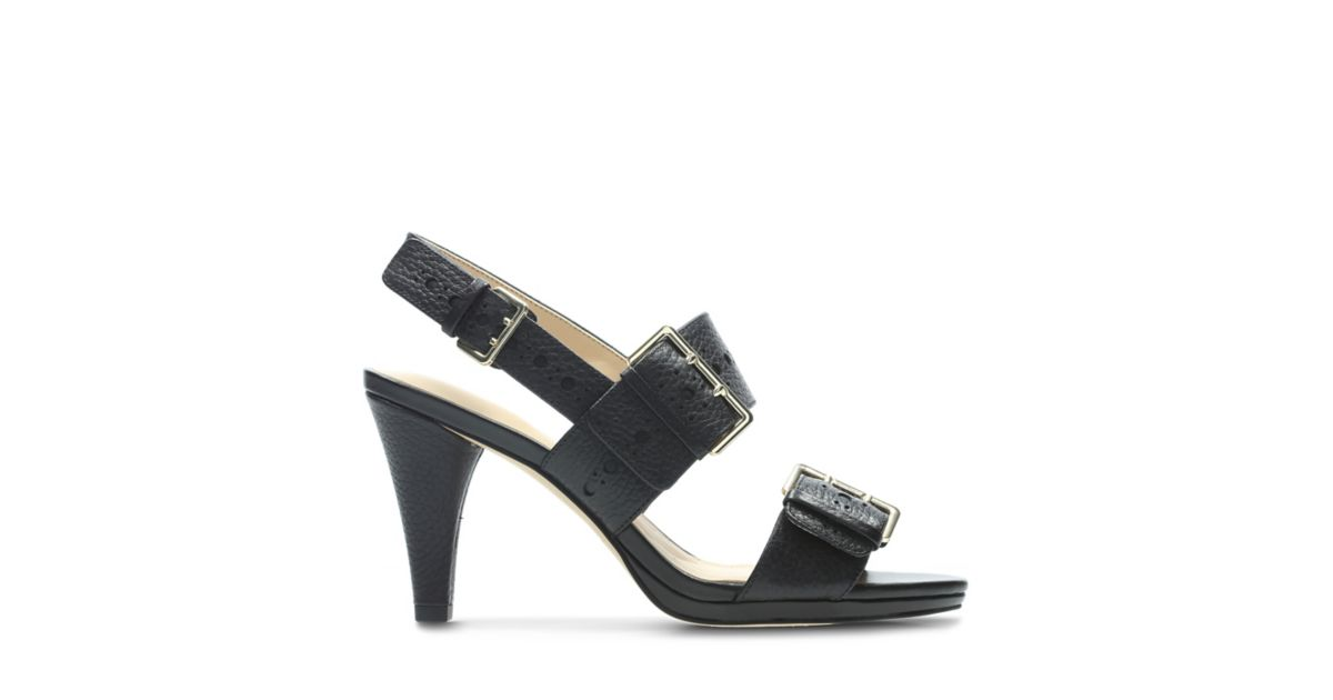 ed60615686b Dalia Erica Black Leather - Women s Sandals - Clarks® Shoes Official Site