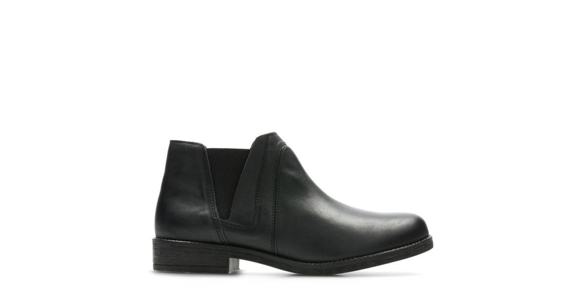 d93d1257255 Demi Beat Black Leather - Women s Boots - Clarks® Shoes Official Site