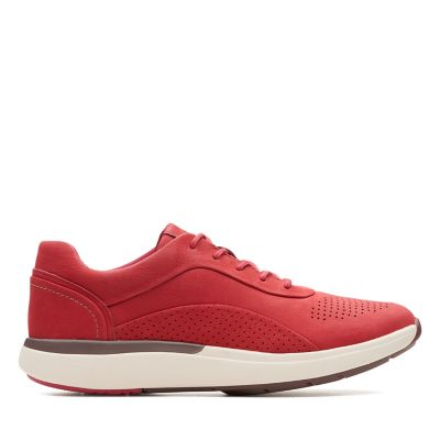 7530b8f02a518 Un Cruise Lace. Womens Sport Shoes. Red Nubuck